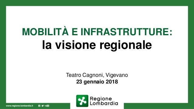 MOBILITÀ E INFRASTRUTTURE: la visione regionale Teatro Cagnoni, Vigevano 23 gennaio 2018