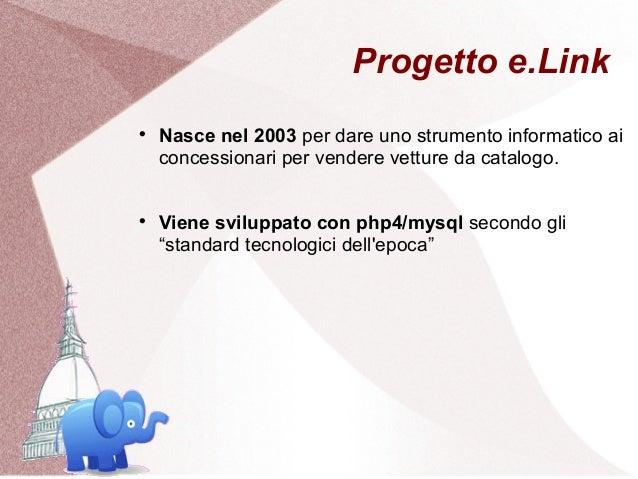 Progetto e.Link    Nasce nel 2003 per dare uno strumento informatico ai    concessionari per vendere vetture da catalogo....