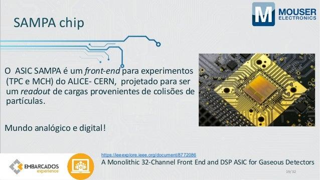 SAMPA chip O ASIC SAMPA é um front-end para experimentos (TPC e MCH) do ALICE- CERN, projetado para ser um readout de carg...