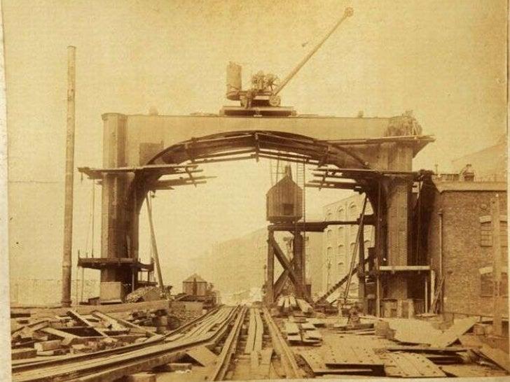 The building of London tower bridge