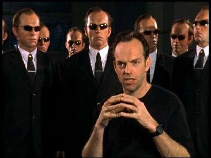 On the set of The Matrix