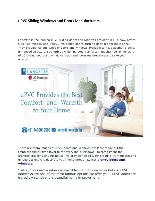 Upvc Doors And Windows Manufacturers Lucknow