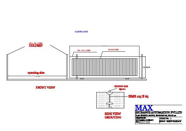 sliding gate plans free. SLIDING GATE100 x 50 4MM 8000MM  sliding gate drawing 1 638 jpg cb 1405650458
