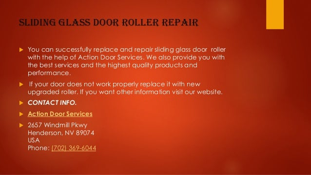 6. Sliding Glass Door Roller Repair ...