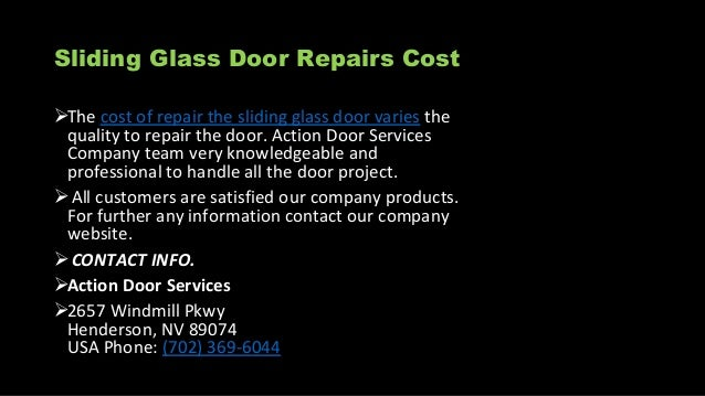6. Sliding Glass Door Repairs ...