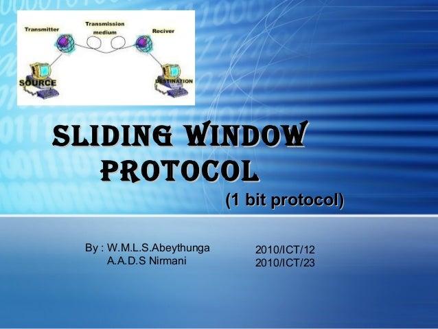 Sliding Window Protocol