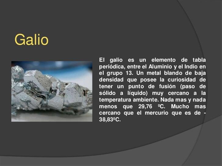 galio el galio es un elemento de tabla peridica - Tabla Periodica De Los Elementos Galio