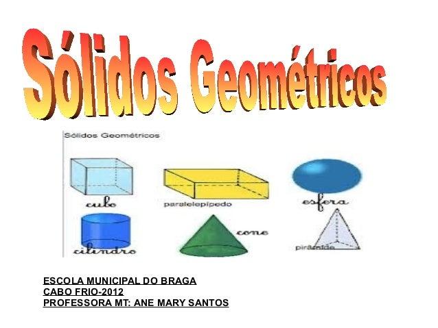 ESCOLA MUNICIPAL DO BRAGA CABO FRIO-2012 PROFESSORA MT: ANE MARY SANTOS