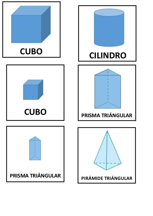 CUBO CILINDRO PRISMA TRIÁNGULARCUBO PRISMA TRIÁNGULAR PIRÁMIDE TRIÁNGULAR