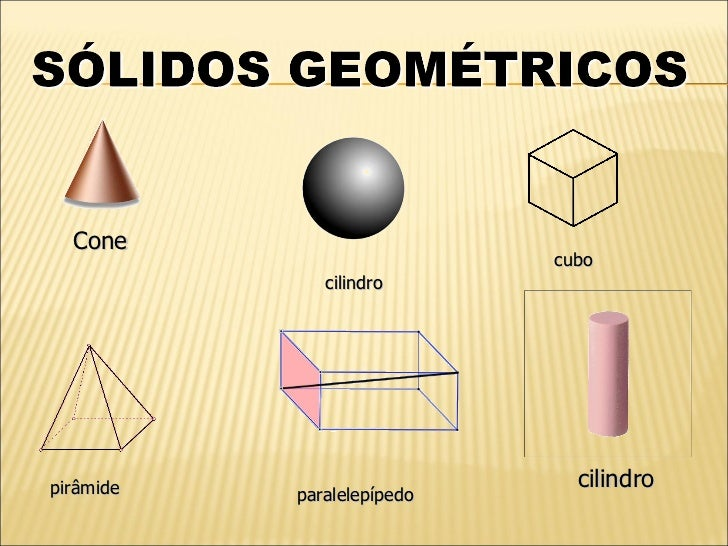 Cone                             cubo               cilindro     pirâmide                      cilindro            paralel...