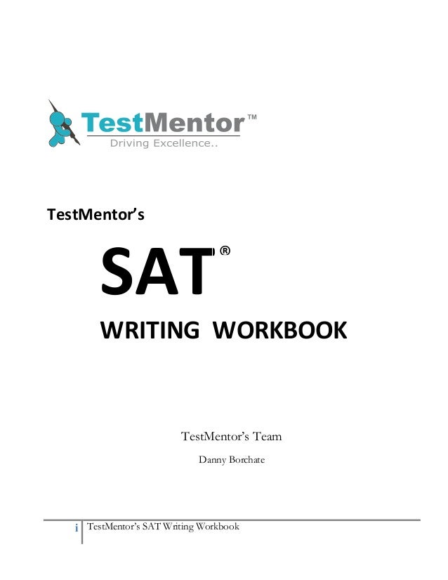 SAT Writting Book Chapter-1- TestMentor's