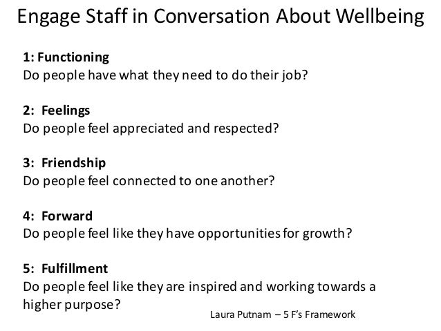 Listening	   and	   Engaging	   Employees • Twice	   daily	   all	   staff	    walk	   or	   movement • Started	   with	  ...