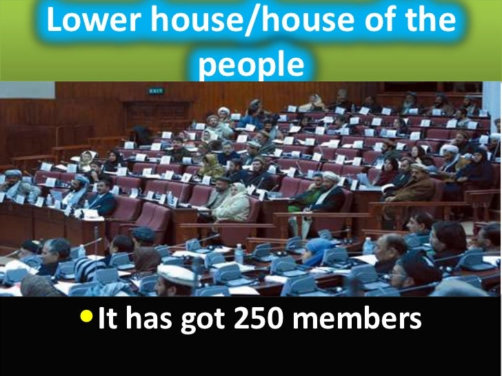 Lower house/house of the        people •It has got 250 members