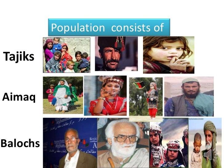 Population consists ofTajiksAimaqBalochs