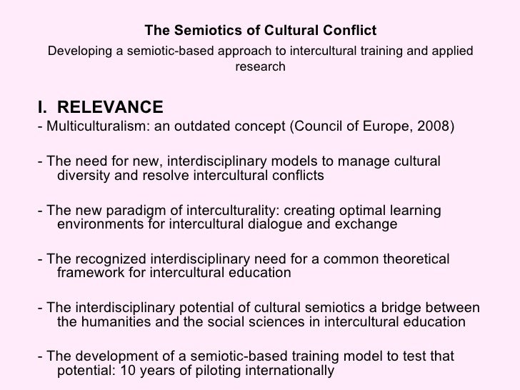 Semiotics of Cultural Conflict Slide 3