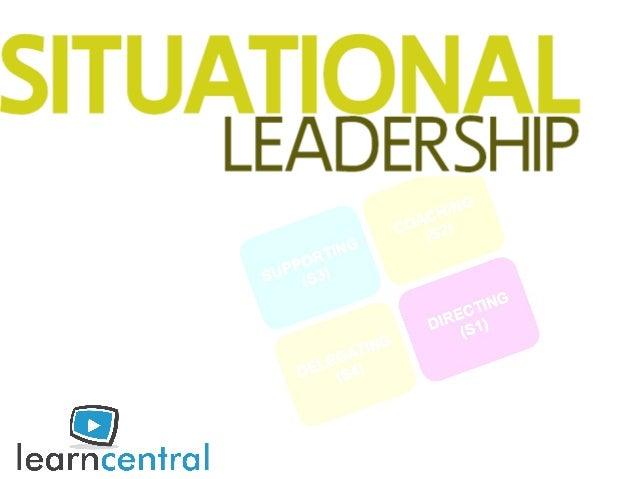 what is leadership? why Situational Leadership? ◦ development level ◦ leadership styles test Run