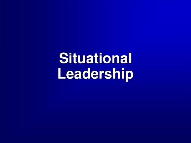 SituationalLeadership