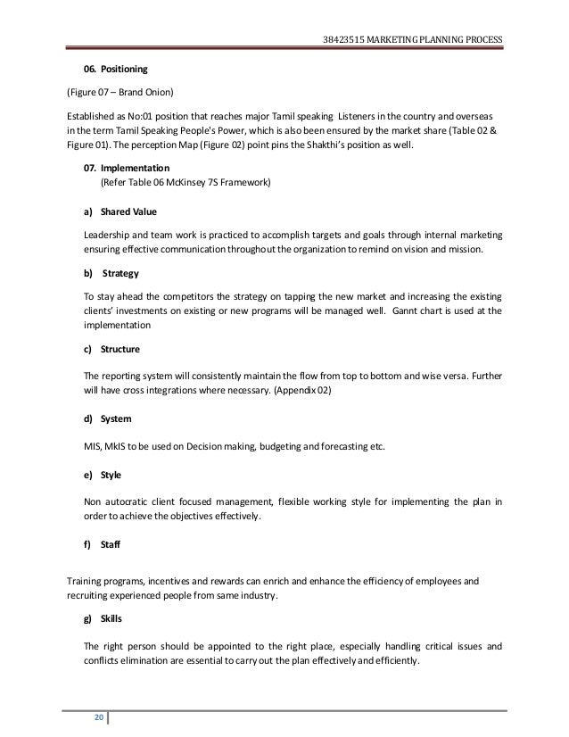 CIM Stage 2 Assignment on Marketing Planning Process