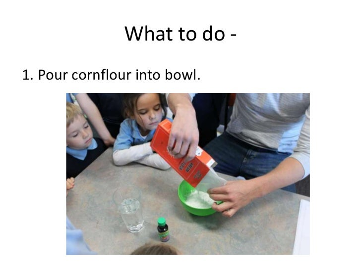 How to make slime what to do br 1 pour cornflour into bowl ccuart Gallery