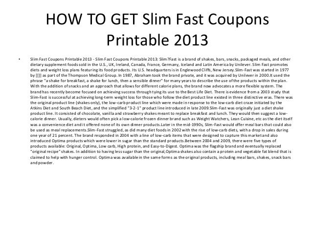 image relating to Slim Fast Coupons Printable titled Skinny Quick Discount codes Printable 2013 - Thin Quick Discount codes