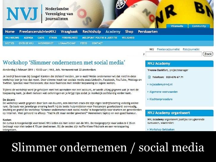 Sociale Media – Fluitend aan de Slag! Slimmer ondernemen / social media