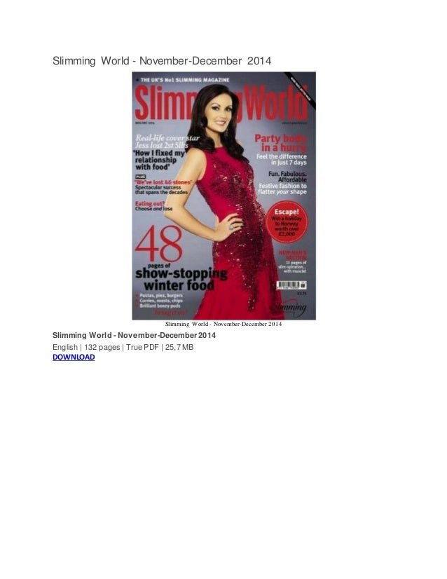 Slimming world november december 2014 for Slimming world official website
