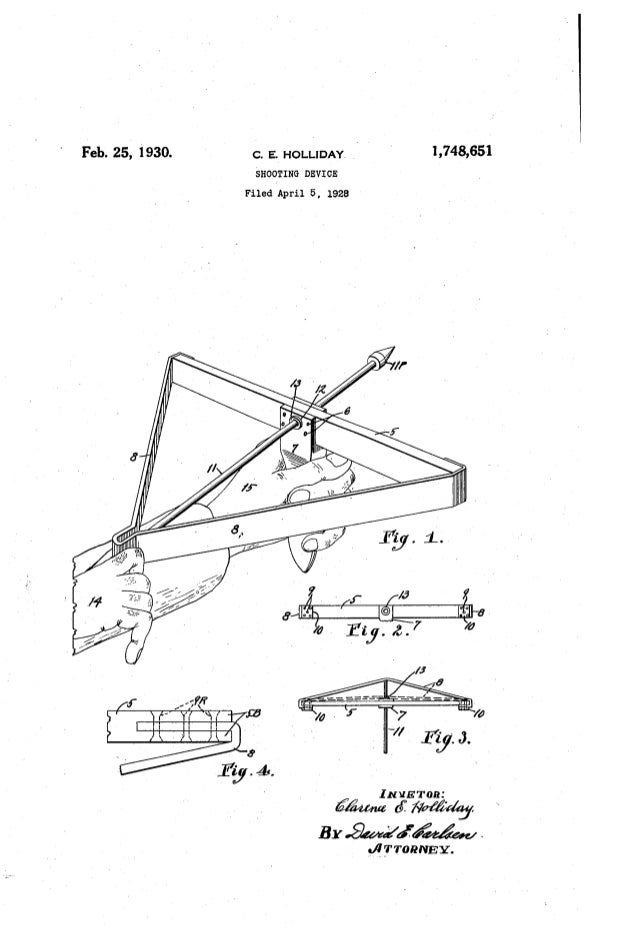Sling Shot Patent Drawings