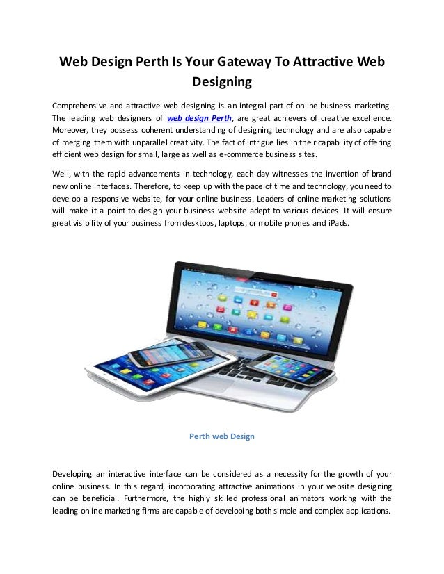 Web Design Perth Is Your Gateway To Attractive Web Designing