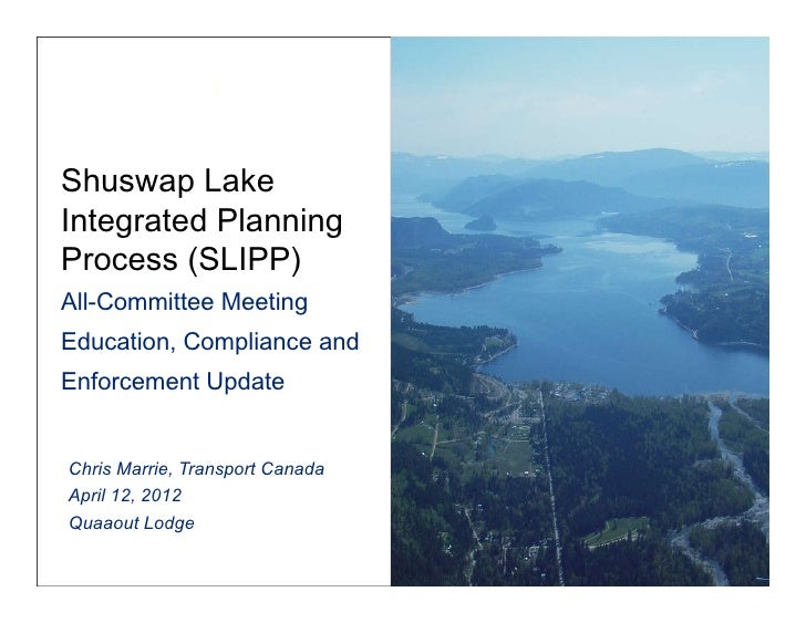 Shuswap LakeIntegrated PlanningProcess (SLIPP) 