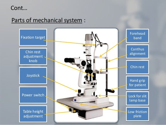 Slit lamp biomicroscope