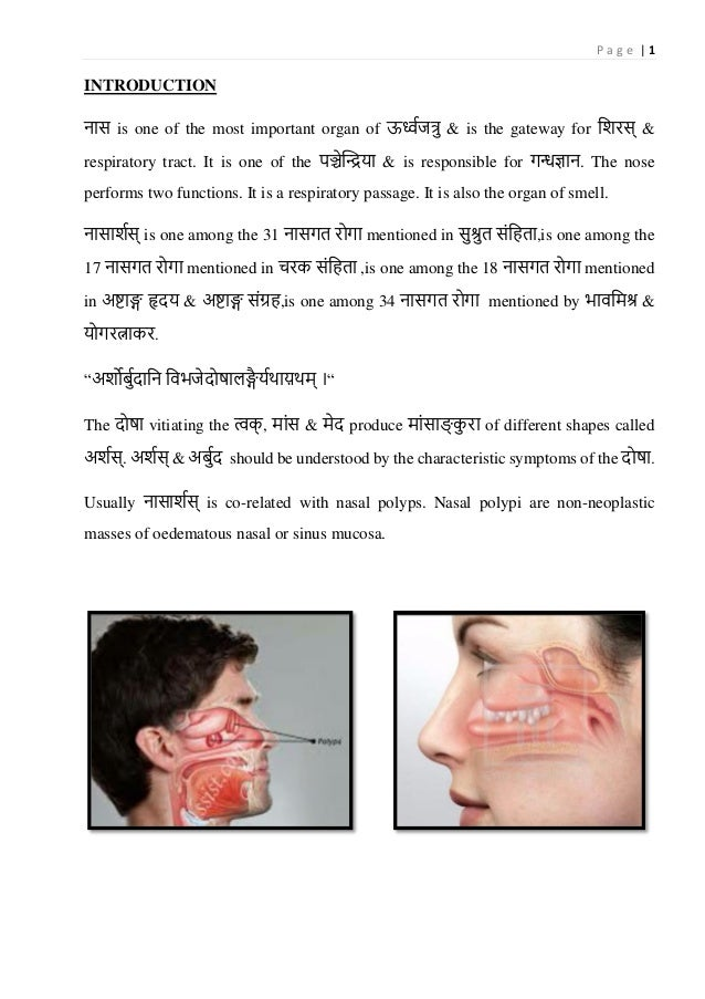 P a g e   1 INTRODUCTION नास is one of the most important organ of ऊर्ध्वजत्रु & is the gateway for शिरस् & respiratory tr...