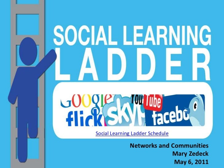 Social Learning Ladder Schedule<br />Networks and CommunitiesMary Zedeck<br />May 6, 2011<br />