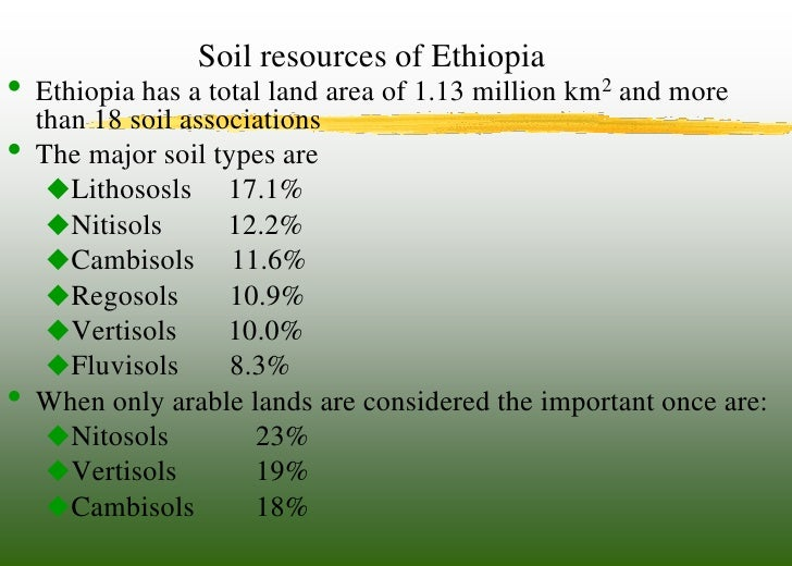 Slm and ap ethiopia presentaion tolessa for Meaning of soil resources