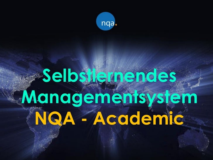SelbstlernendesManagementsystem NQA - Academic