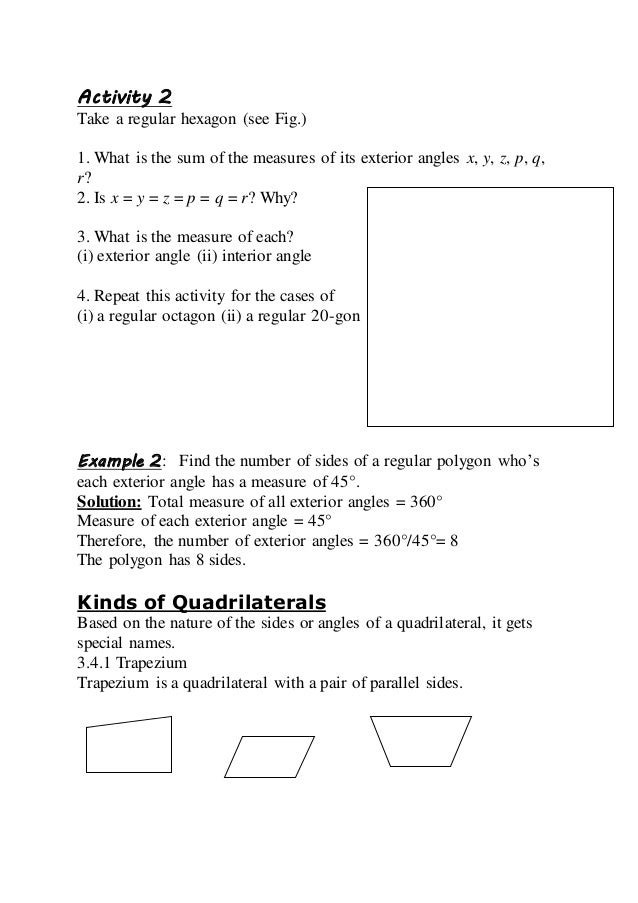 Slm understanding quadrilaterals maths topic - Total exterior angles of a polygon ...