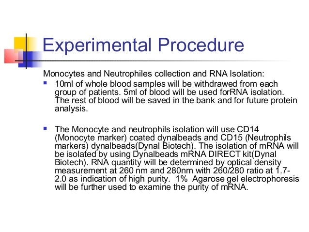Experimental Procedure Preparation of Labeled Cellular RNA:  A total of 5 µg of mRNA will be used for double-stranded com...
