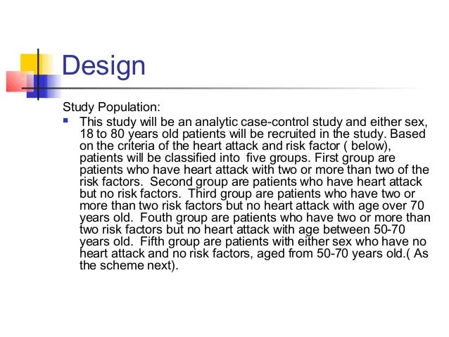 Design Study Population:  This study will be an analytic case-control study and either sex, 18 to 80 years old patients w...
