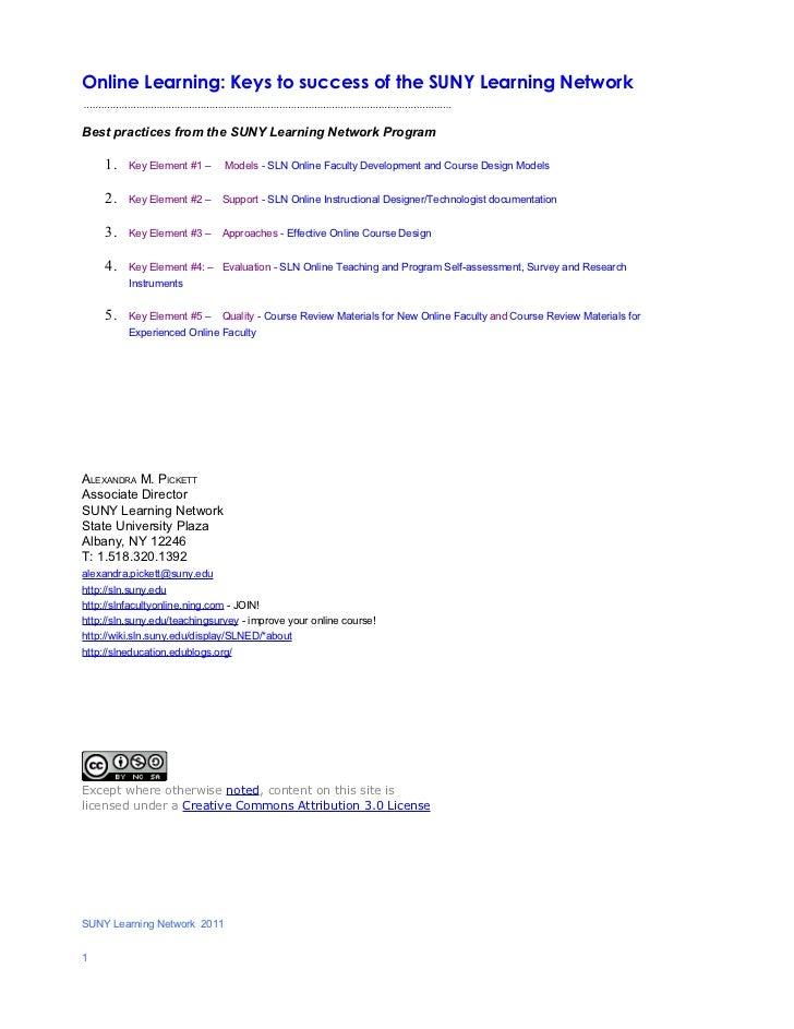 SLN 5 key elements of success