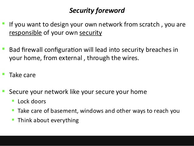 Mastering your home network do it yourself security 56 solutioingenieria