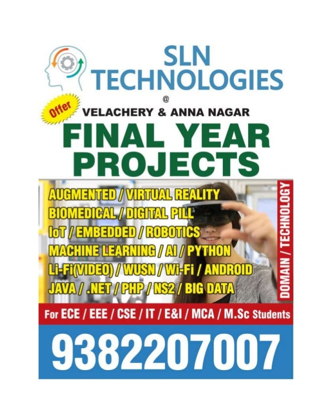 Embedded with IOT project titles 2018 - 2019 in Chennai