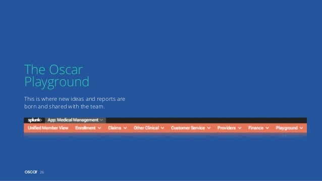 This is where new ideas and reports are born and shared with the team. The Oscar Playground 26