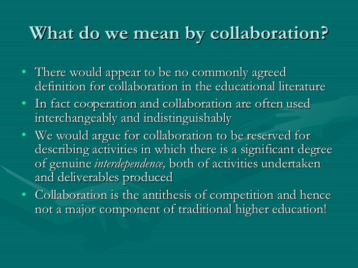Collaborative Teaching Degree ~ Online collaborative activities
