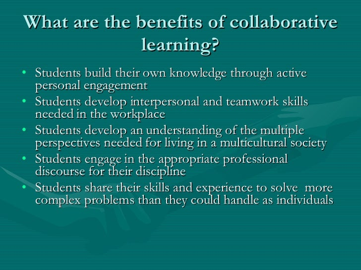 Collaborative Teaching Benefits To Students ~ Online collaborative activities