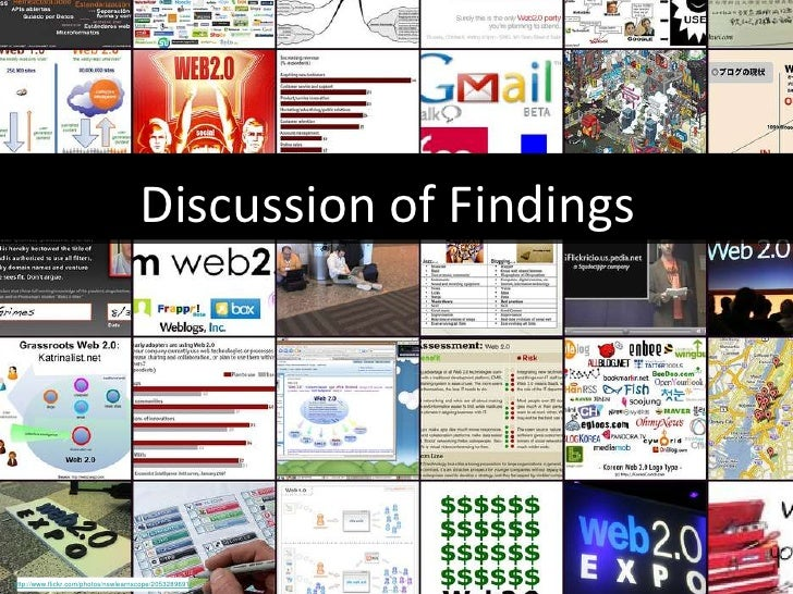 Discussion of Findings http://www.flickr.com/photos/nswlearnscope/2053289691/