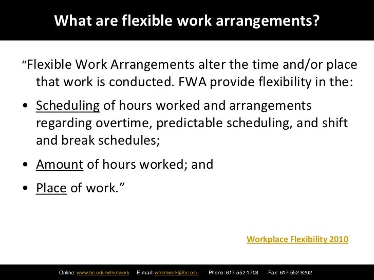flexible staffing arrangements essay Bibliography dreike almer, elizabeth, and louis e single career consequences of flexible work arrangements: the daddy track the cpa journal.