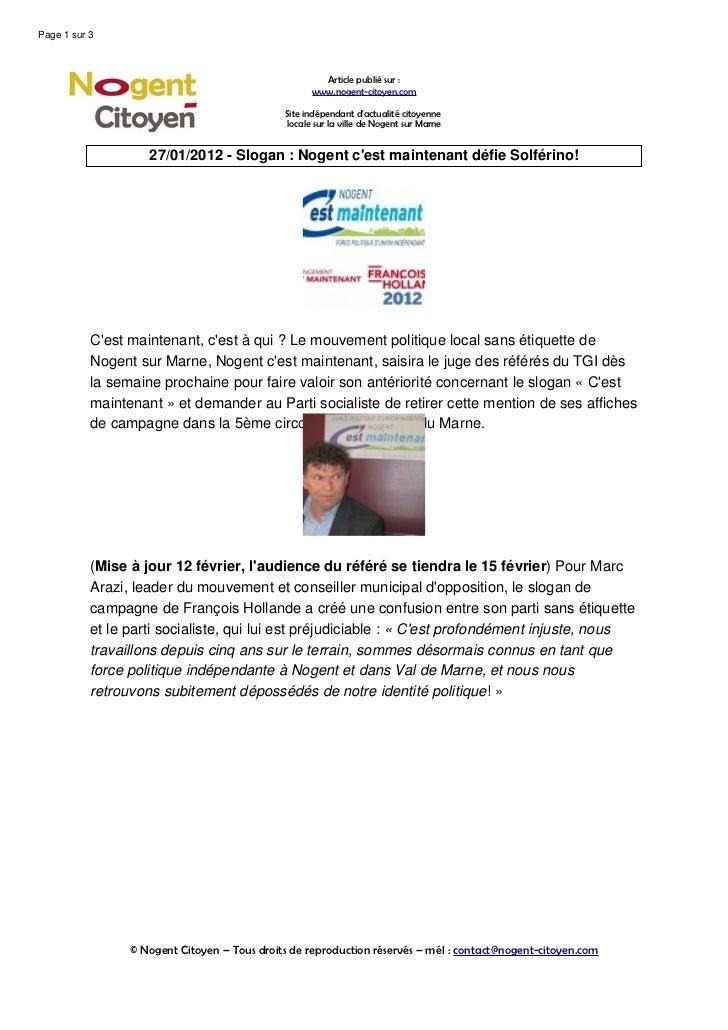 Page 1 sur 3                                                      Article publié sur :                                    ...