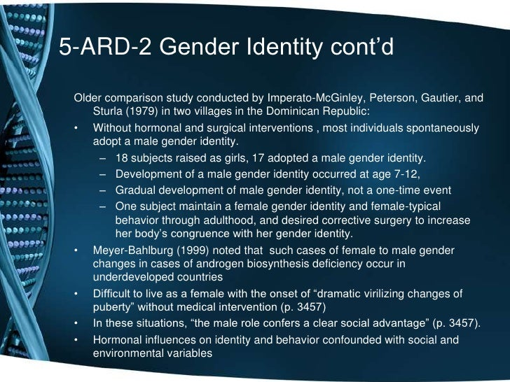 controversial influences on gender development and the effects on male and female individuals Essay/term paper: gender roles to define gender in terms of narrow male and female roles gender is culturally to separate out the precise effects of.
