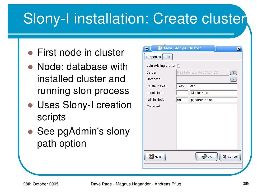 Replicating PostgreSQL Databases Using Slony-I