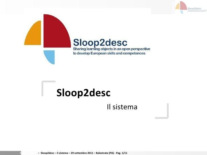 Sloop2desc Il sistema