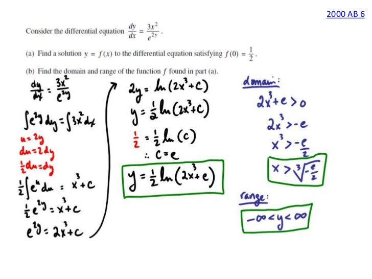 2006 ap calculus ab free response solutions form b